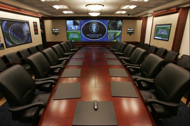 White House Situation Room National Security Interests