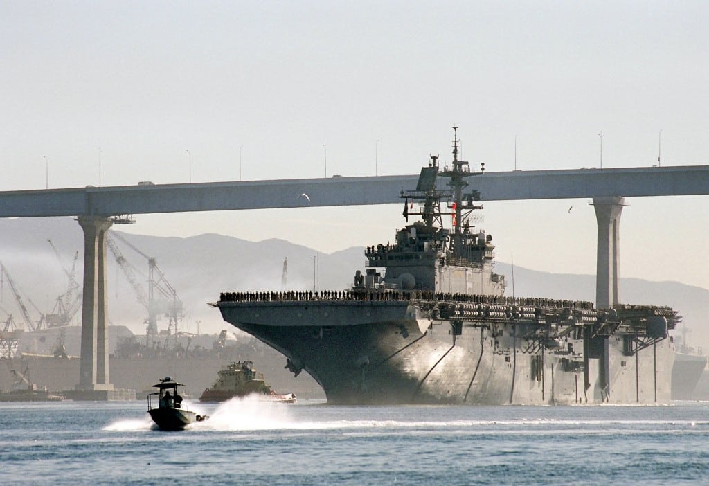 """US Navy Base San Diego Fleet Command """"Closely Monitoring"""