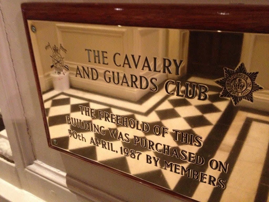 The Cavalry And Guards Club 127 Piccadilly London